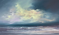 Lighting the Sky VI by Philip Raskin -  sized 30x18 inches. Available from Whitewall Galleries